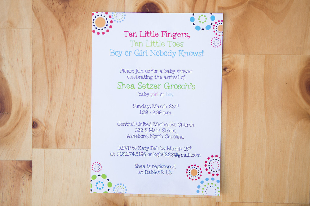 Ten Little Fingers Baby Shower Invitation | Digital Download | $15