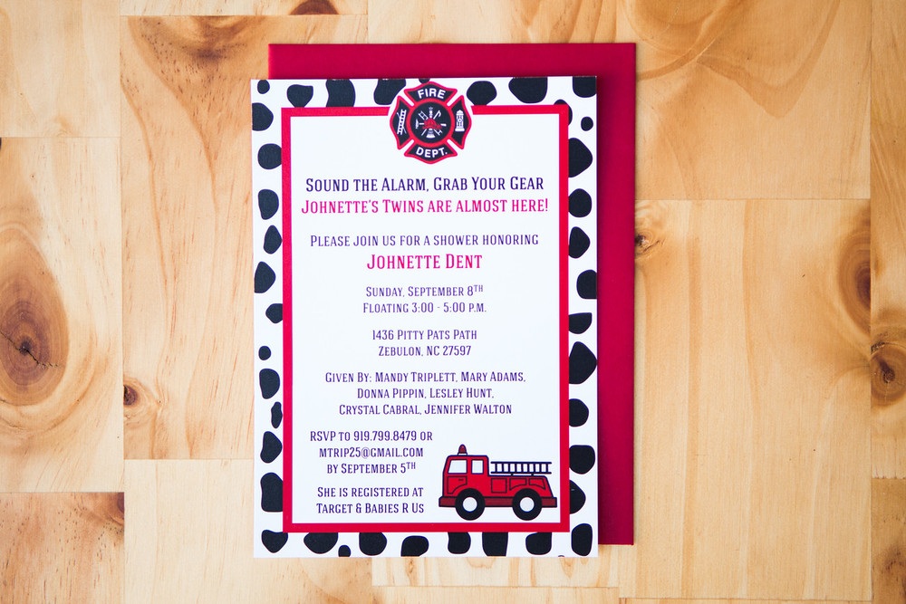 Firetruck Baby Shower Invite | Digital Download | $15