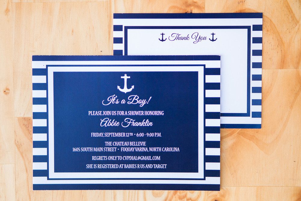 Ahoy! Its A Boy! Baby Shower Invite | Digital Download | $15