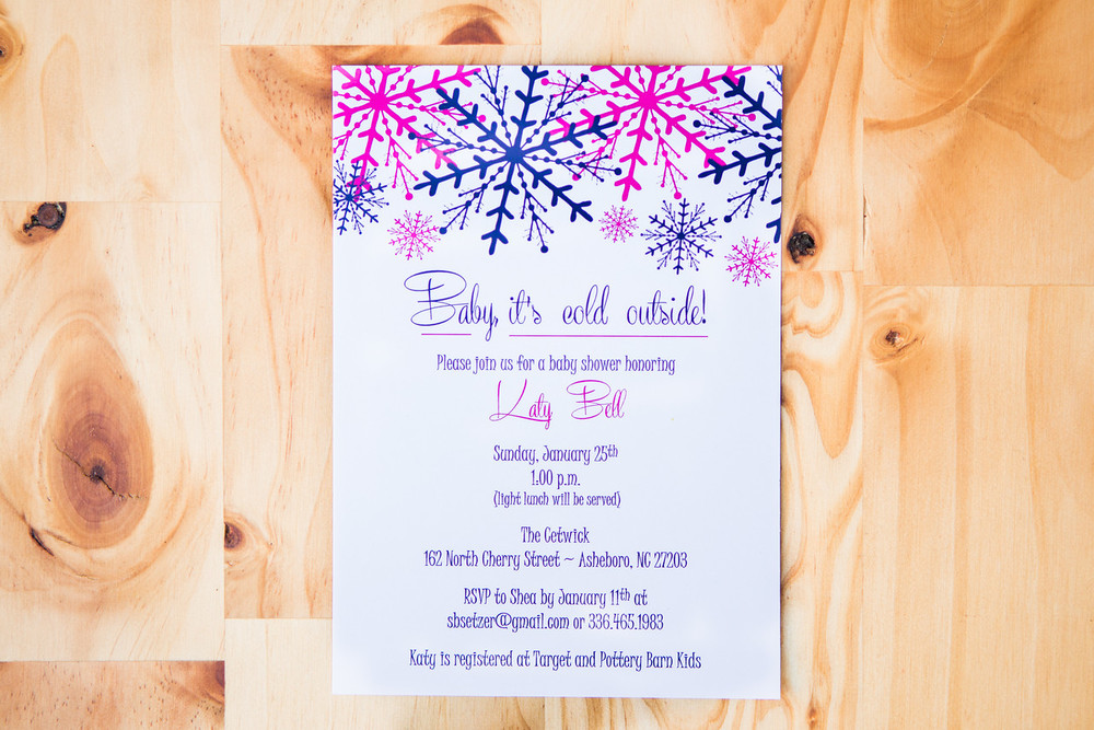 Baby Its Cold Outside Baby Shower Invite | Digital Download | 15