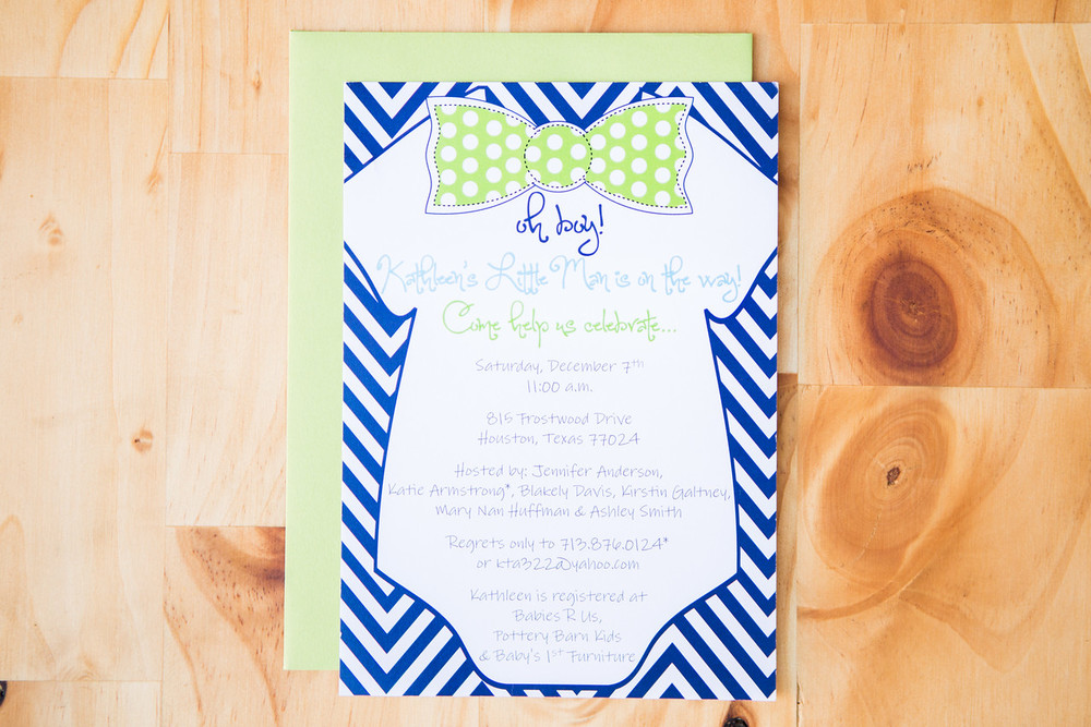 Oh Boy! Baby Shower Invite | Digital Download | $15