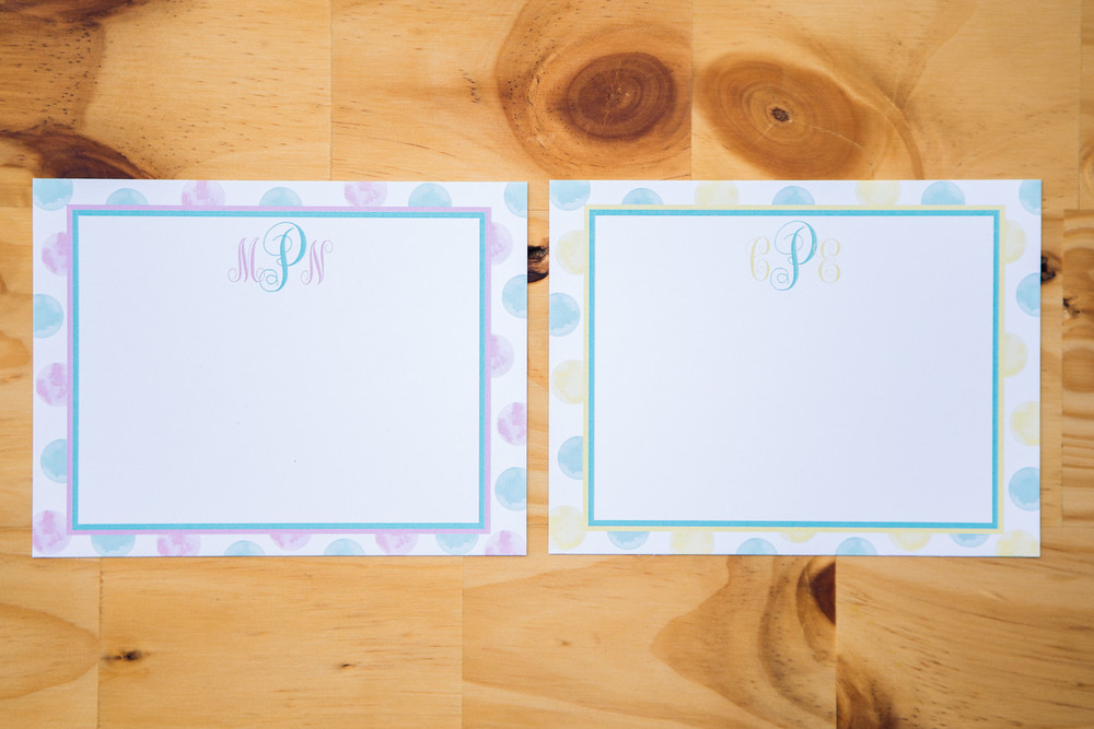 Monogram Notecards | Pack of 10 | 4.25x5.5 | $10