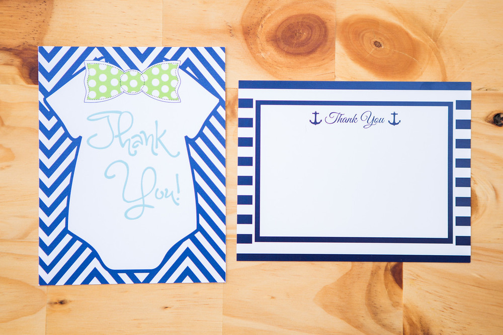 Matching Thank You Notes | Pack of 10 | 4.25x5.5 | $10 (View matching invitations in the Baby section)!