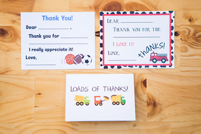 Matching Thank You Notes | Pack of 10 | 4.25x5.5 | $10 (  View matching invitations in the Baby section)!
