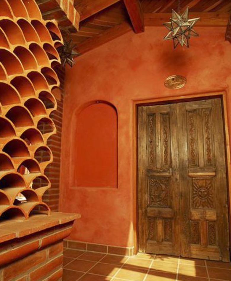 rancho la puerta lime plaster walls