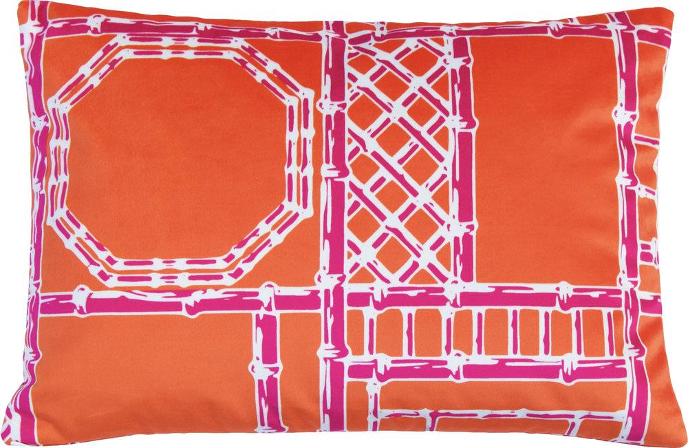Bamboo Fretwork Lumbar_OrangeRaspberry_Velvet III.jpg