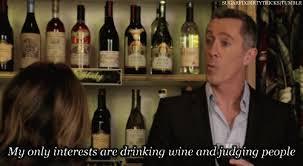 DRINKING WINE GIF