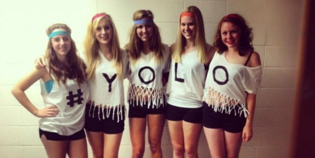 YOLO group halloween costume