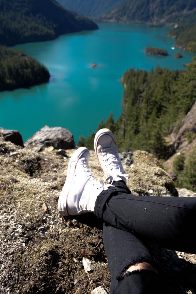 September: Adventuring to Diablo Lake in Washington with my childhood friend Jordan.