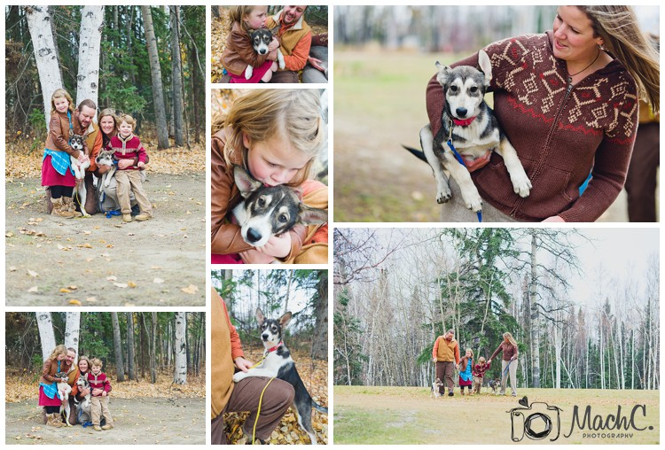 photos with puppies and kids in Fairbanks, Alaska