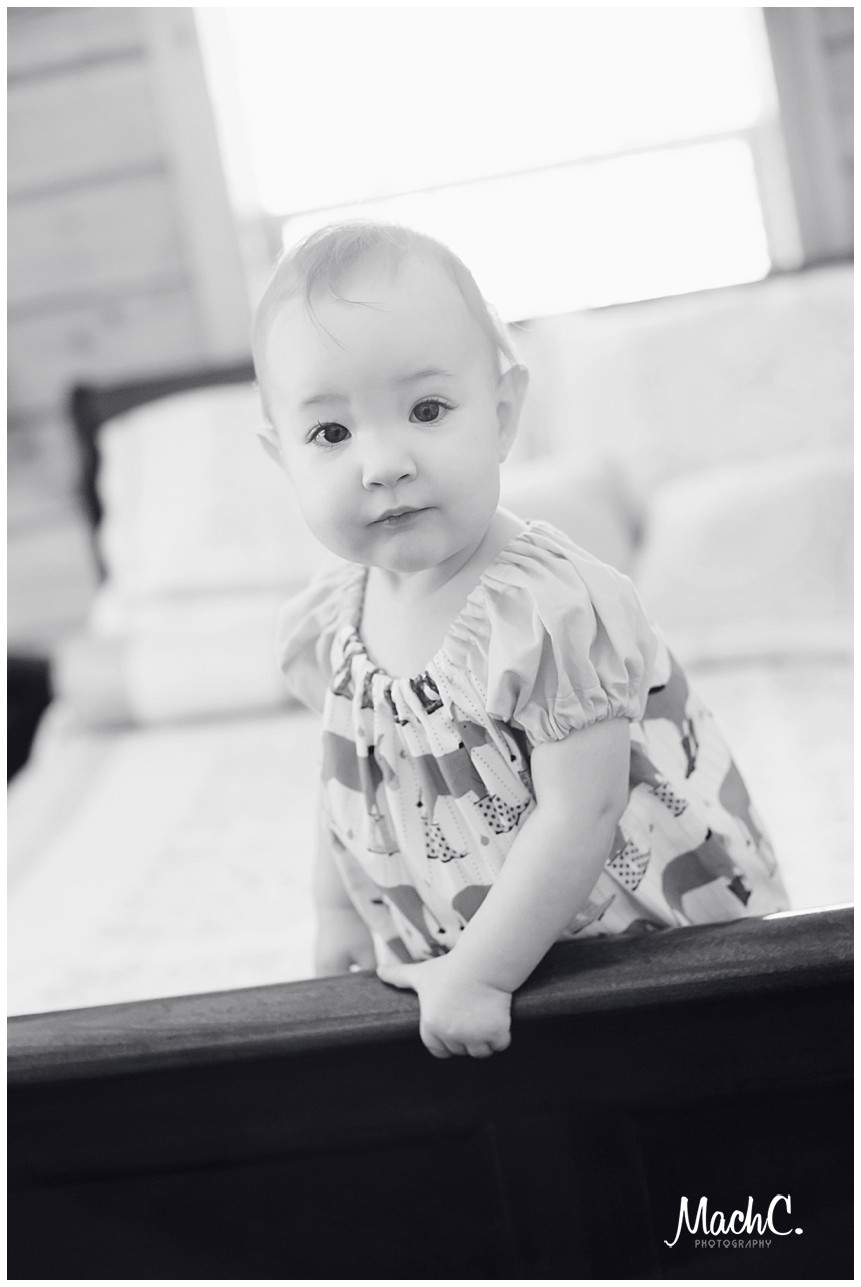 class black and white baby portrait