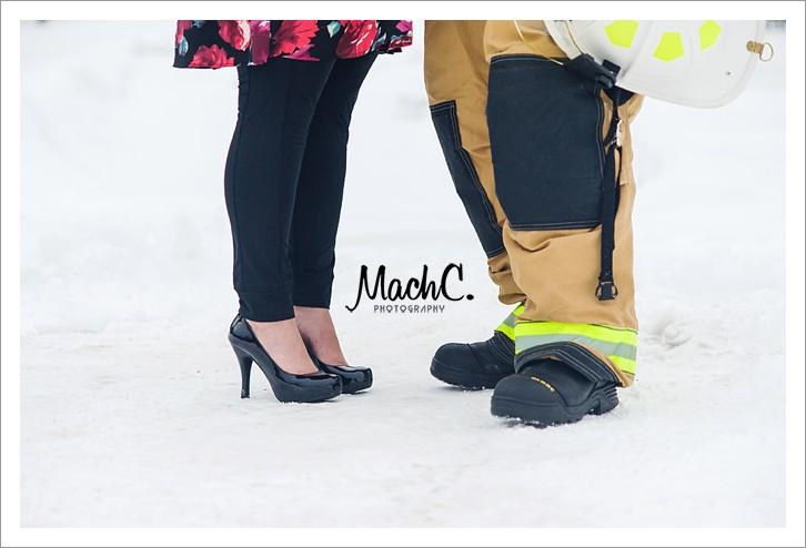hot sexy wife & her fireman shoot