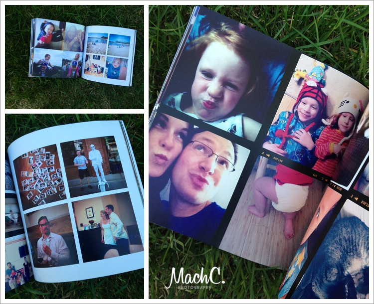 making an instagram book from family pictures