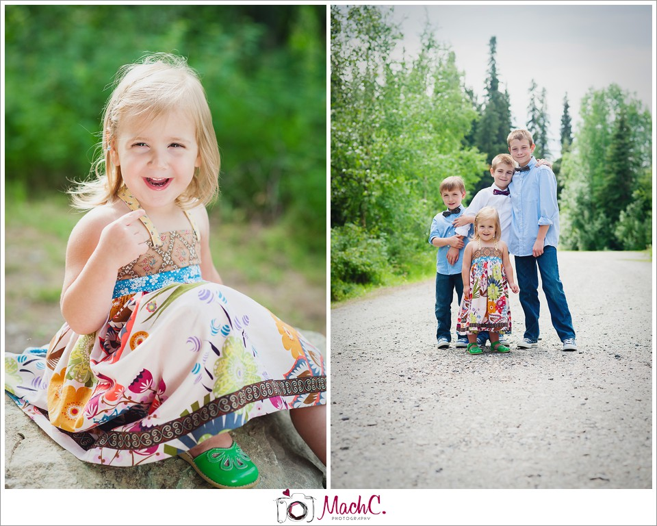 The color palette of the boys determined the dress Maddie would eventually wear for our photo shoot.