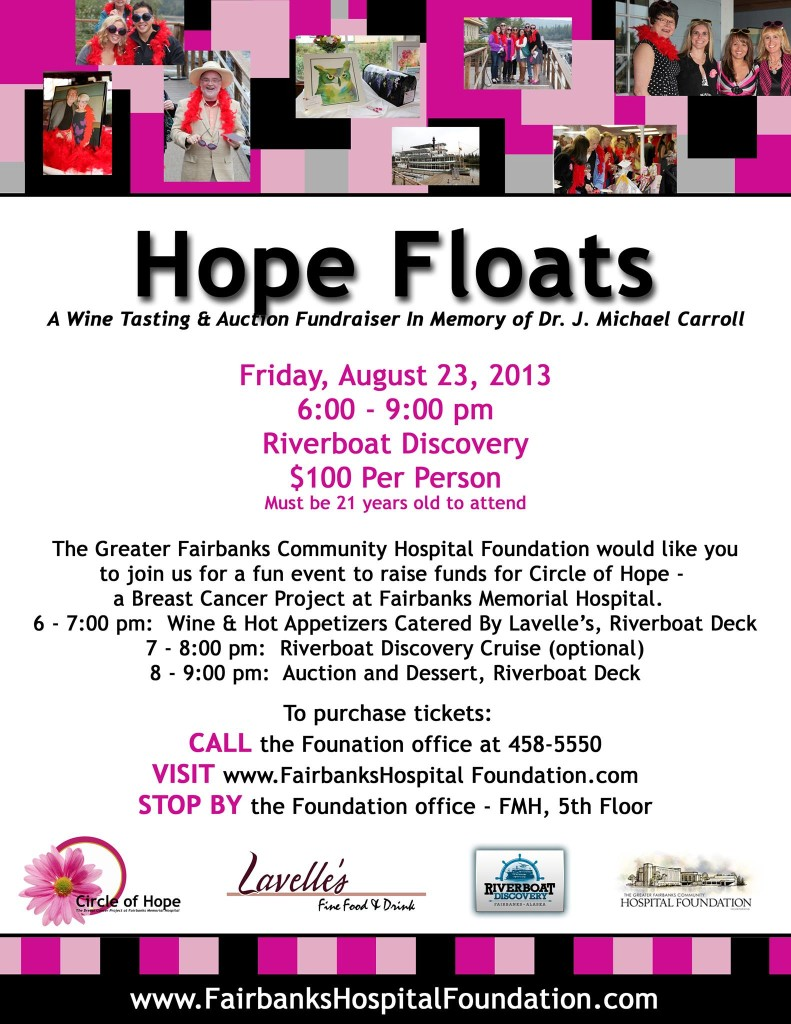 Hope Floats Hospital Foundation Wine Tasting & Auction Fundraiser