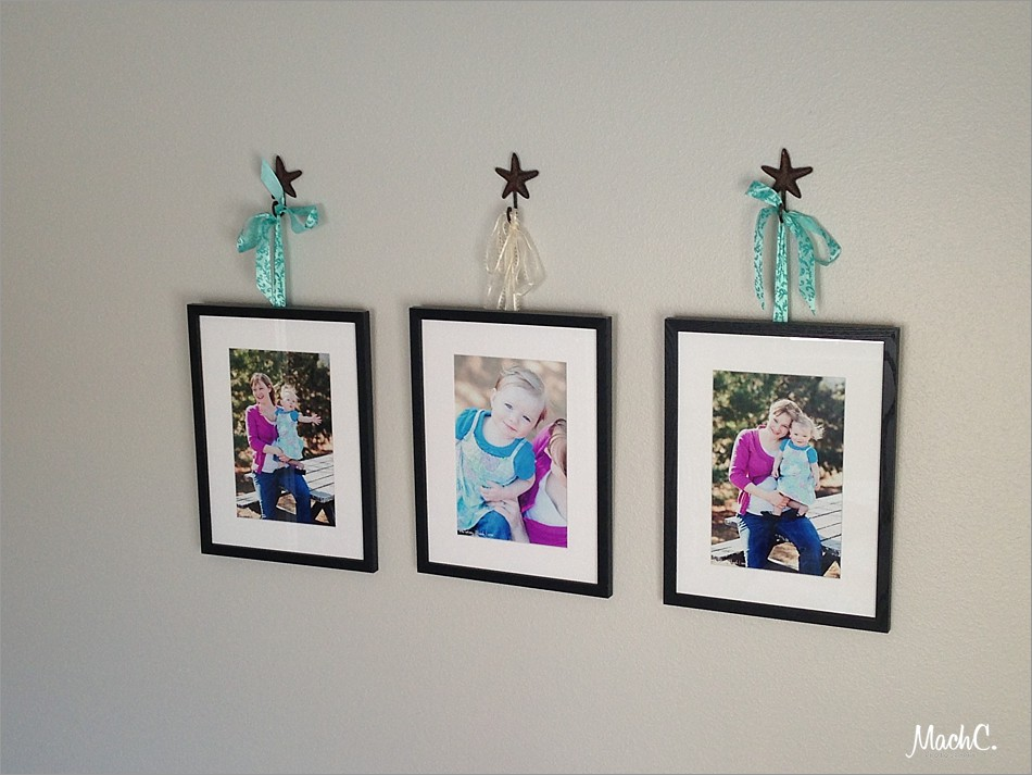 photo wall display with gift prints