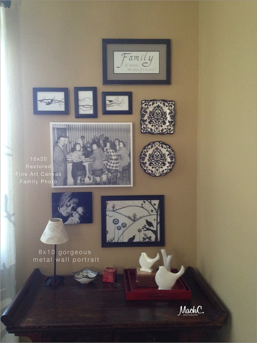 How families display their photos