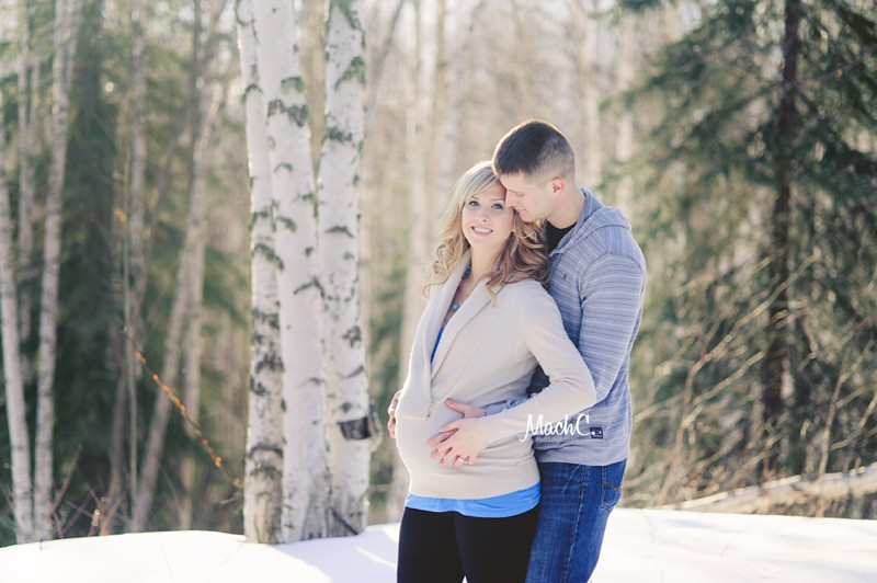 newborn maternity session fairbanks ak