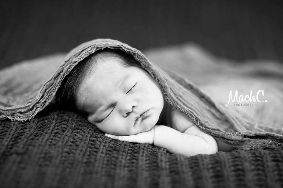 Washington Alaska Newborn photographer black & white