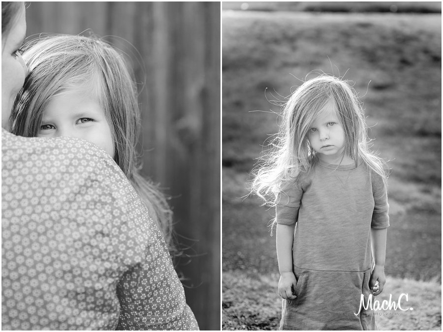 beautiful black and white photos showing off Camas WA and kids