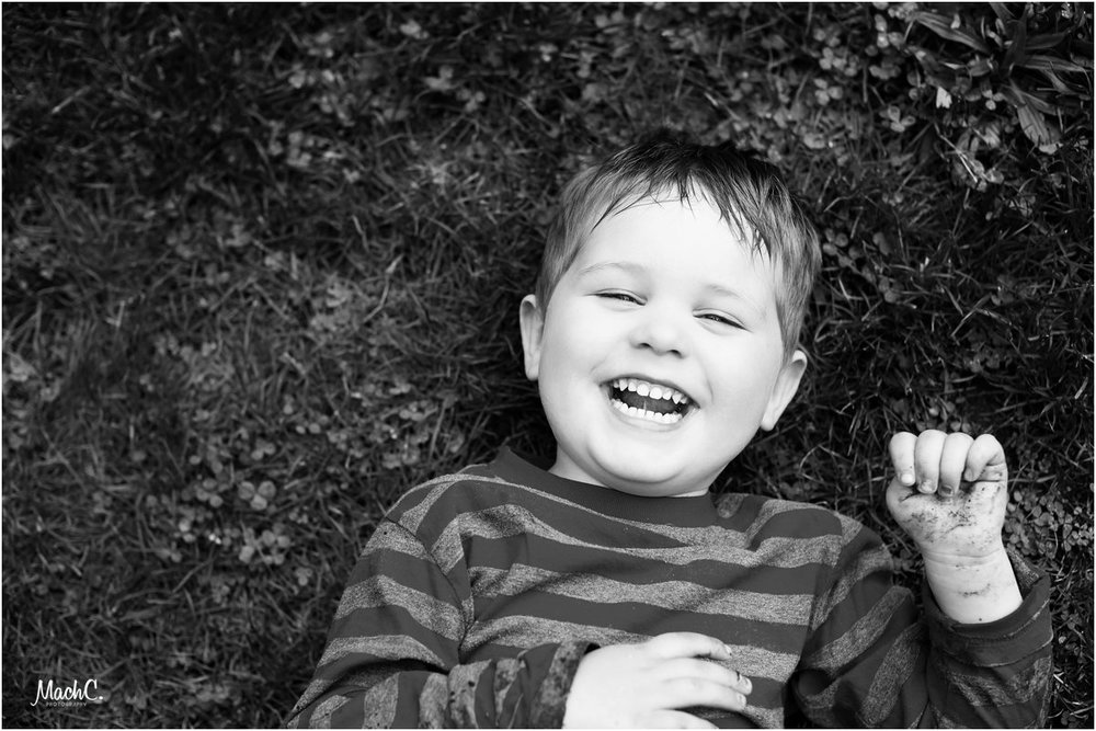 Black & white and laughing all over. The dirt on his hand - a clear sign we were having fun.