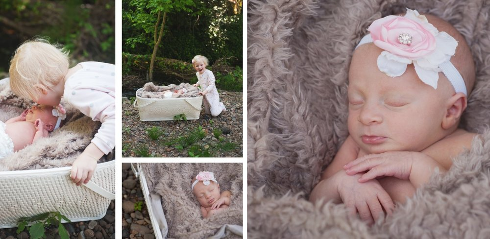 a full page spread from Keira's keepsake baby book