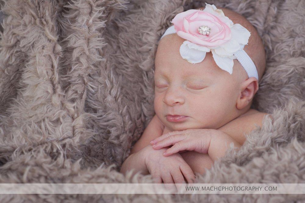 newborn snuggled into her baby blanket - Washougal, WA