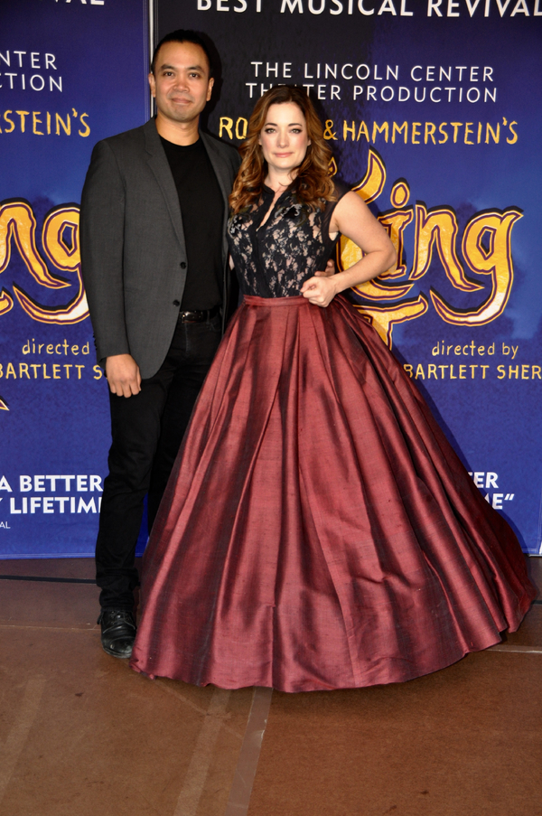 Our King with Mrs. Anna! Jose Llana and Laura Michelle Kelly - CLICK HERE for more photos of the cast!