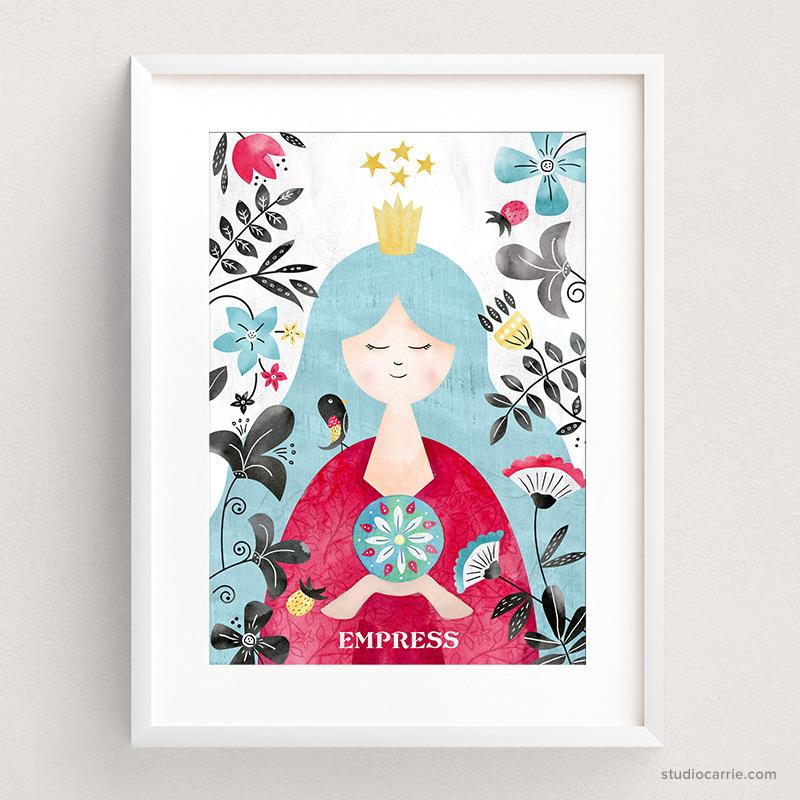 Empress Tarot Card Art Print by Studio Carrie