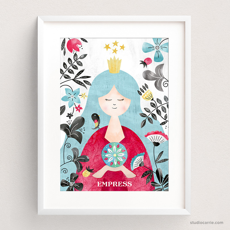 Copy of Empress Tarot Card Art Print by Studio Carrie