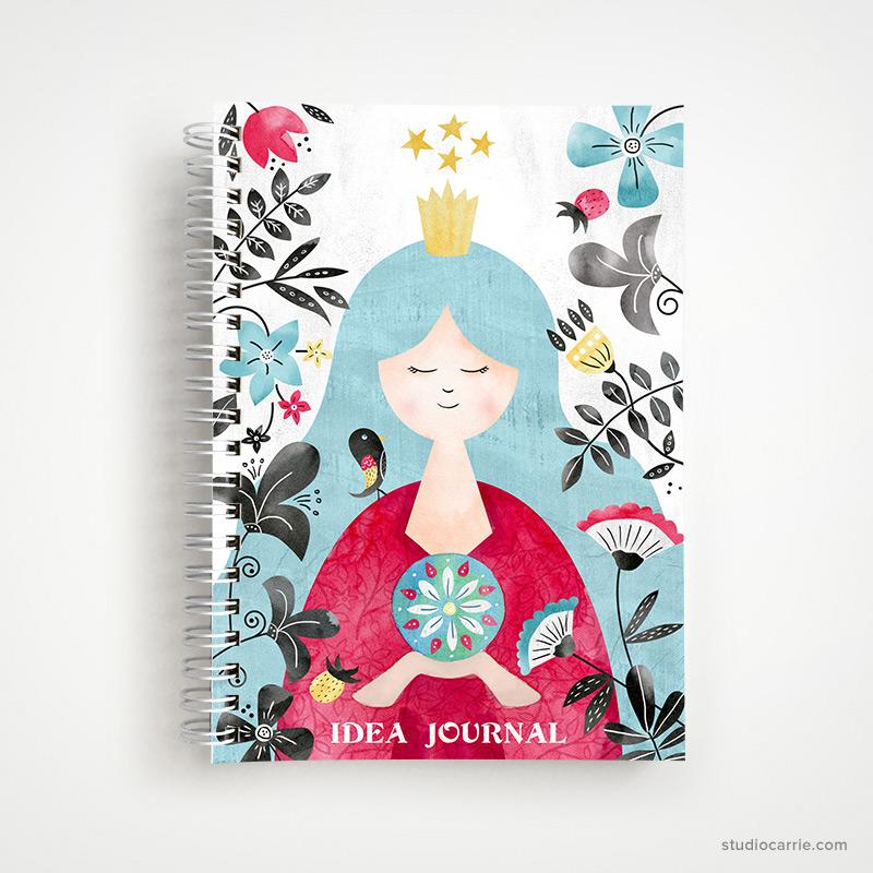 Empress Idea Journal Notebook by Studio Carrie