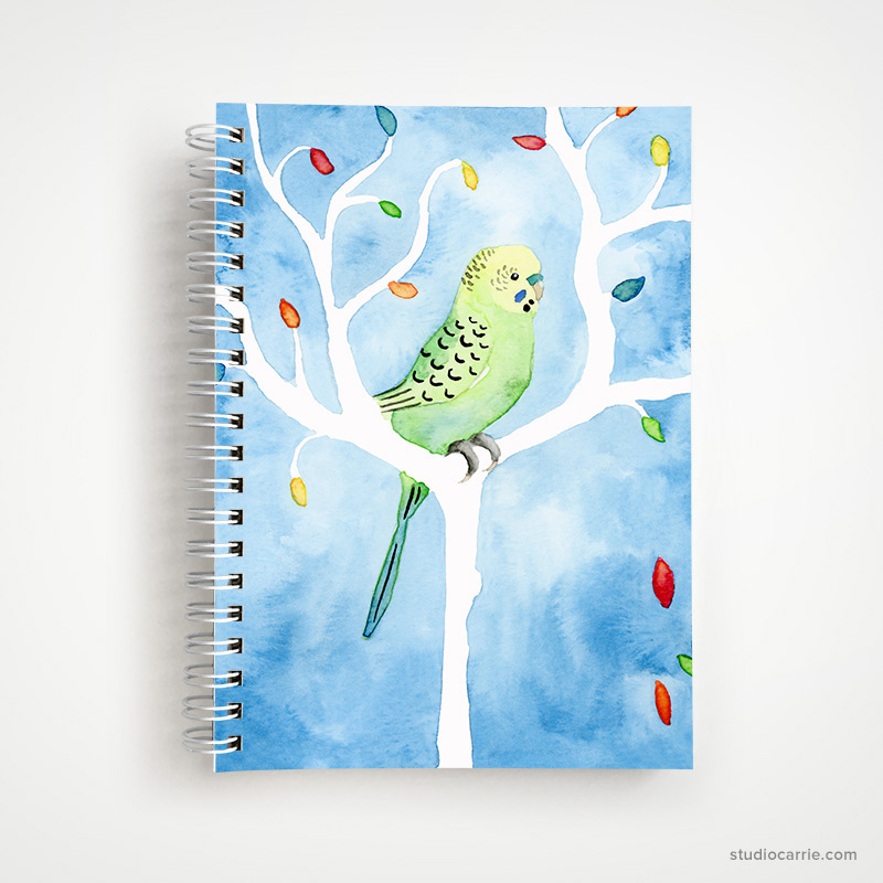 Parakeet Notebook by Studio Carrie