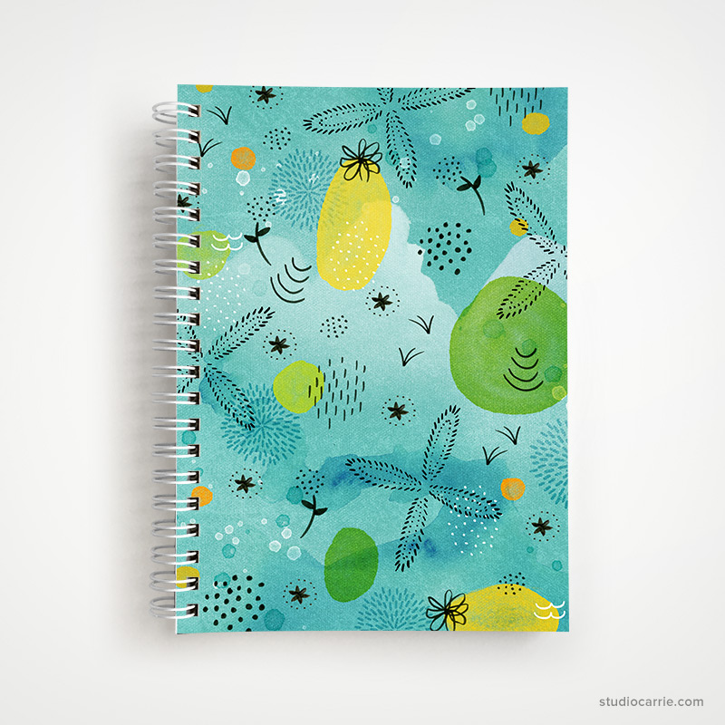 Just Beachy Abstract Notebook by Studio Carrie
