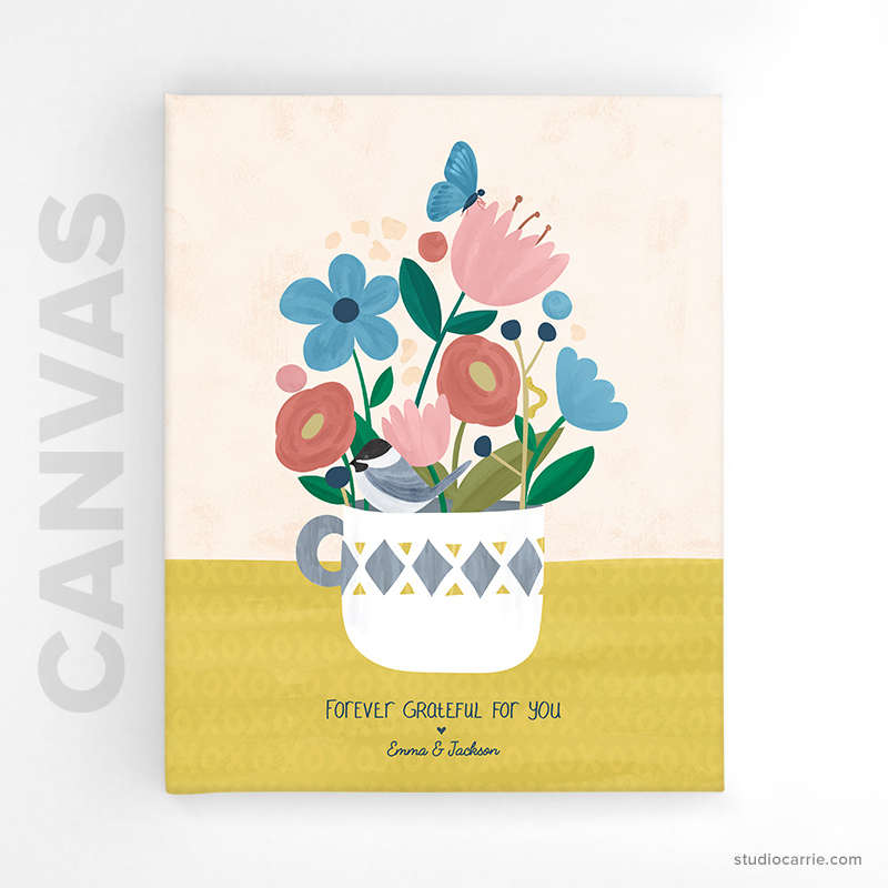 Custom Forever Flowers Canvas Print by Studio Carrie