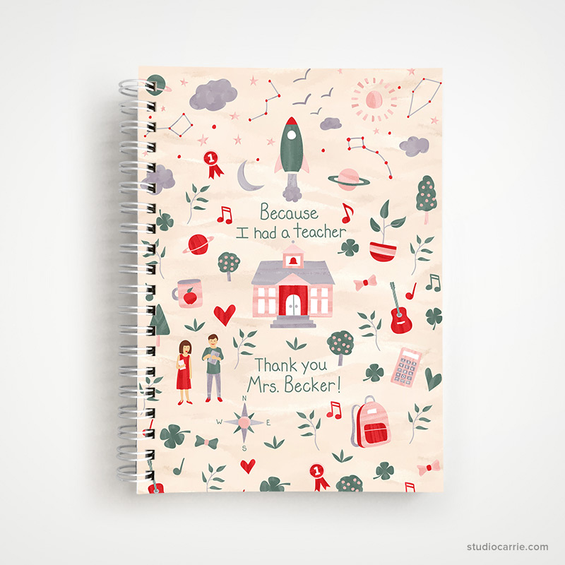Copy of Because I had a Teacher Notebook by Studio Carrie