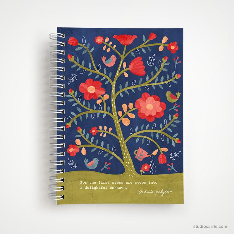 Rose Tree Flower Notebook