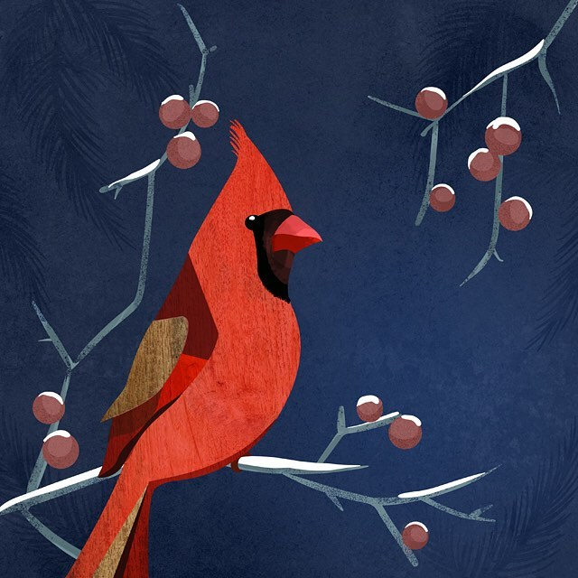 "Happy New Year, everyone! Cardinals are one of my favorite animals. They stay here in Wisconsin during the cold winters and don't migrate like other birds. Such enduring little souls that represent devotion, passion and love. I'm hoping for the same in 2018 and will hang this guy up as a reminder to focus on the things that are important and try to worry less about the rest. ""Find hope in the darkest of days, and focus in the brightest."" Dalai Lama"