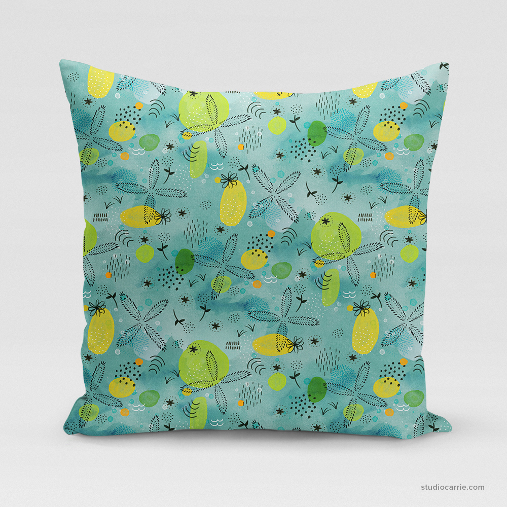Just Beachy Square Pillow by Studio Carrie