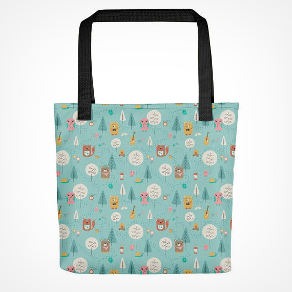 Let's Camp Tote bag
