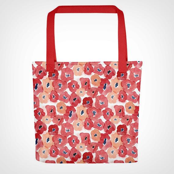 ed Floral Tote bag