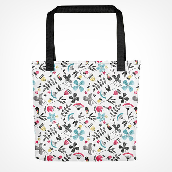 Retro Floral Tote bag