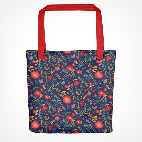 Rose Tree Flower Tote bag