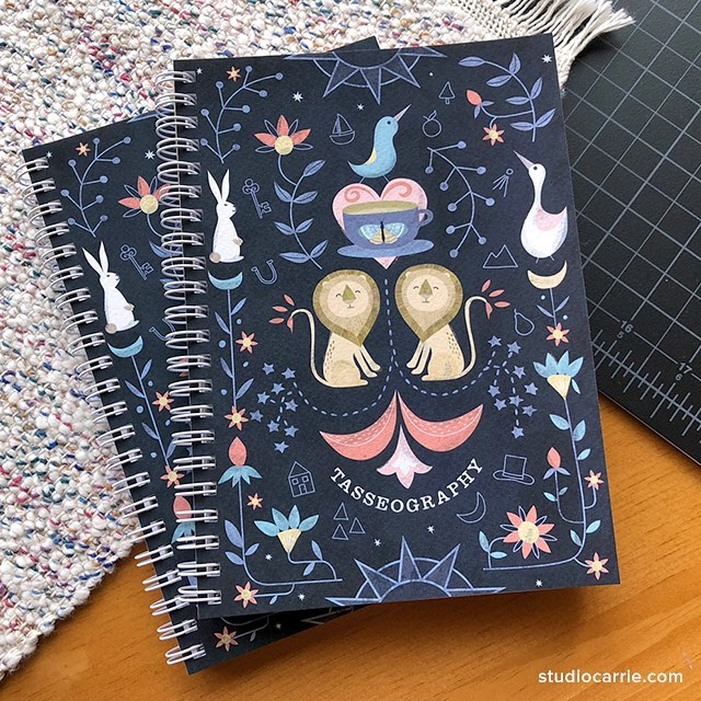I turned my #matsbootcamp2018 tasseography art into notebooks and listed them in my Etsy shop. Perfect for anyone who loves tea or tea reading. I really enjoyed working on this one, all icons symbolize positive futures, of course! And lions, you can never go wrong with lions. #loyalty  #makeartthatsells #matsbootcamp #illustration #tealeafreading #tasseography #fortunetelling #stationery #sketchbook #surfacepatterndesign #surfacedesign #artlicensing
