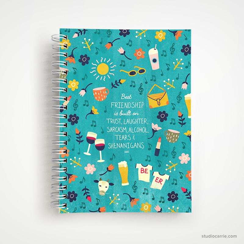 Best Friendship Notebook by Studio Carrie