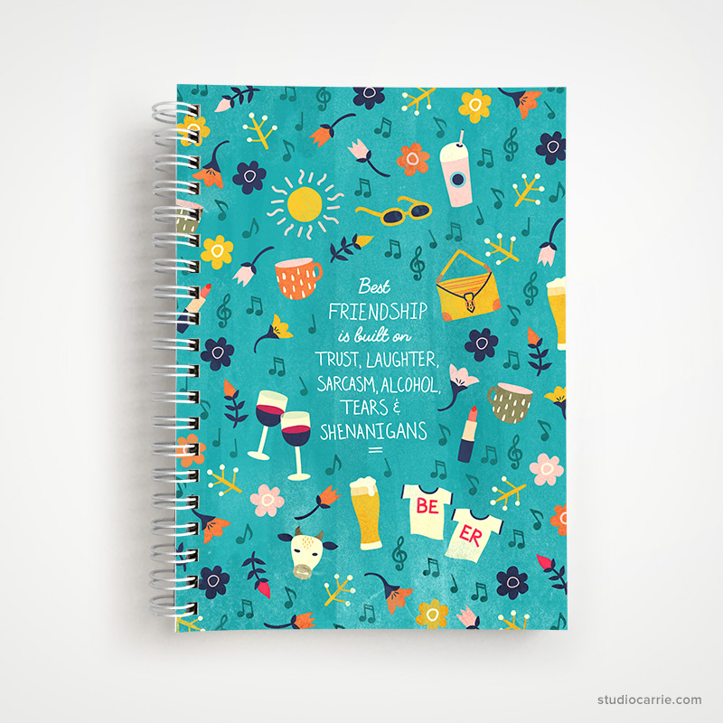 Best Friendship Notebook by Studio Carrie