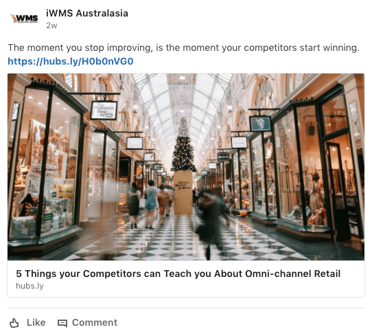 Social Strategy - We used LinkedIn to create engagement, increase iWMS' brand exposure and generate visitors to the site.In 5 months, we increased click-throughs, interactions and engagement by over 50%.