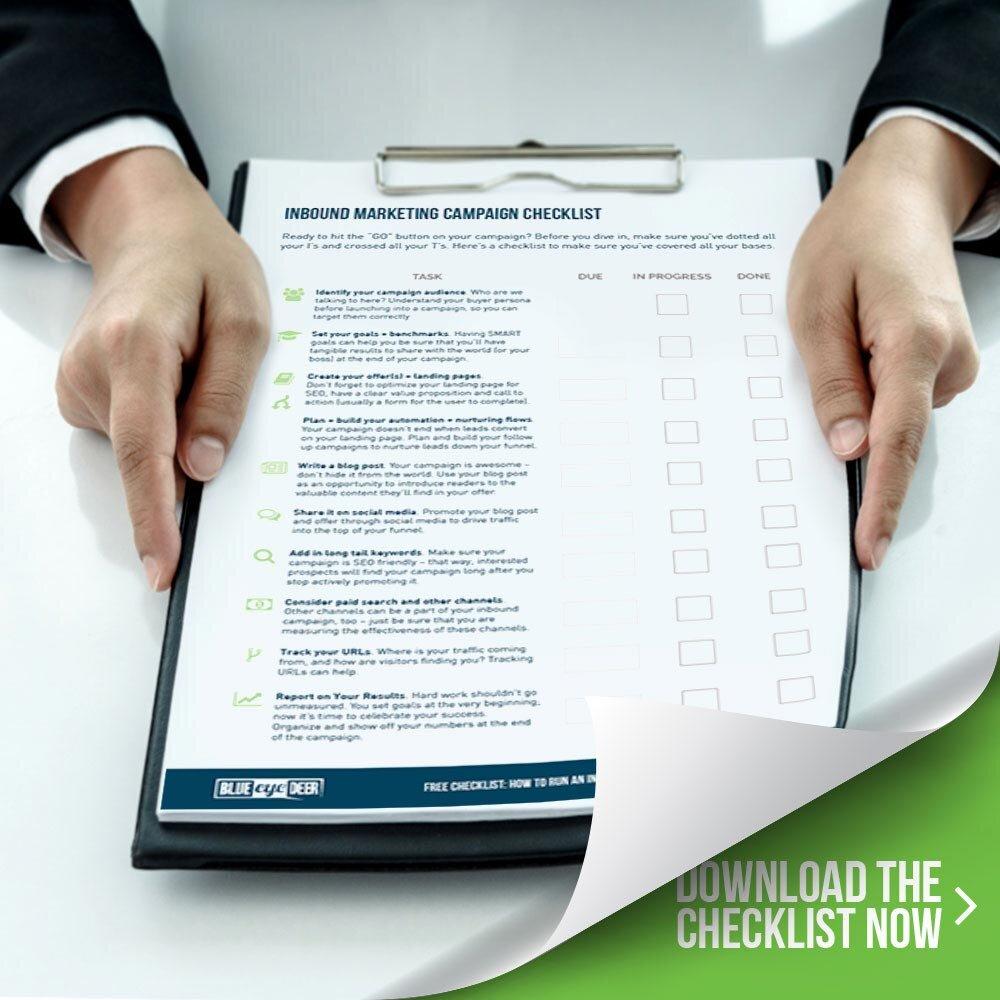 Run an effective inbound campaign - a checklist