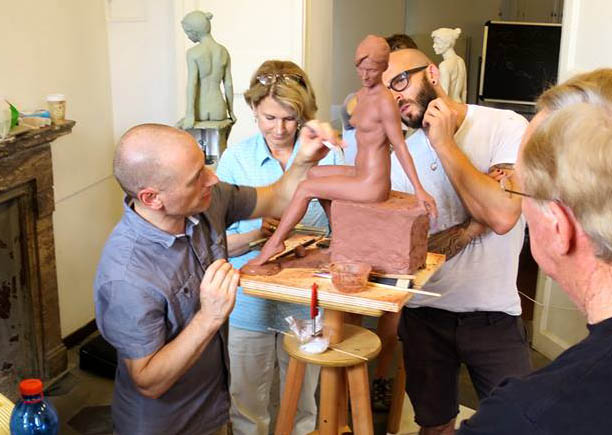 Brian Booth Craig teaching Figure Sculpture at the Rome Art Residencies.
