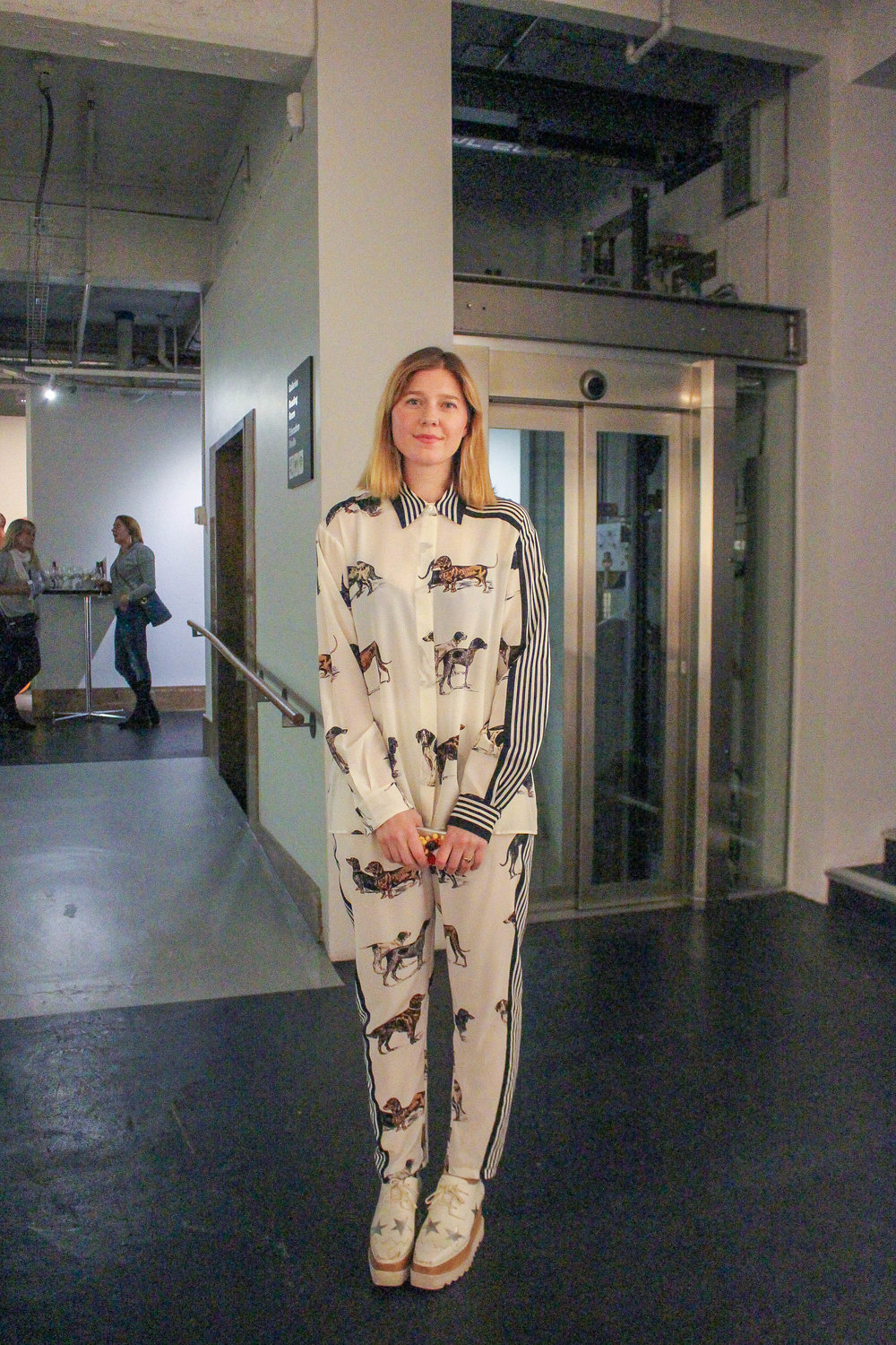 Artist Petra Cortright - I liked her outfit.