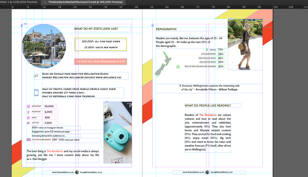 Working on the Layout in InDesign